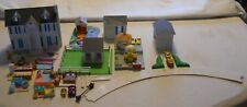 VTG 1994 LEWIS GALOOB MY PRETTY DOLLHOUSE HAPPY HEART MANSION + OTHER BUILDINGS