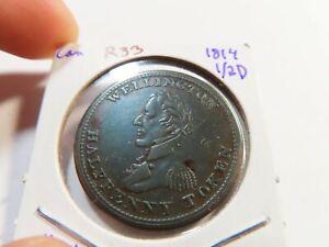R33 Canada 1814 Wellington 1/2 Penny Token