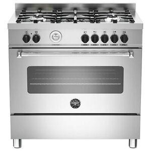 Bertazzoni MAS90-5-MFE-S-XE 90cm Master Dual Fuel Single Range Cooker