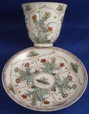 Antique 18thC Chinese / Japanese Porcelain Kakiemon Cup & Saucer Porzellan China