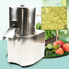 Electric Vegetable Cutter Commercial Kitchen Chopper Slicer Stainless Steel 110V