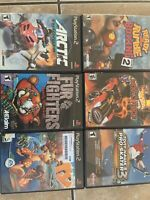 PS2 MEGA Lot All Great Titles Hot Wheels TY Fur Fighters Arctic Thunder TH Pro