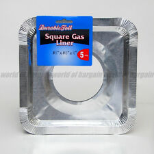 5 pcs DISPOSABLE SQUARE BIB LINERS Aluminum Foil Gas Stove Burner Cover H029