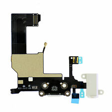 iPhone 5 Ladebuchse Dock Connector Audio Jack Flex Antenne Mikrofon - 5G weiß