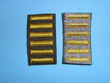 b1653-6 WW 2 US Army Overseas Bars EM style 6 bars