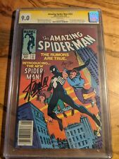 AMAZING SPIDER-MAN #252 💥 SIGNED by STAN LEE  & author Roger Stern💥 CGC 9.0 SS
