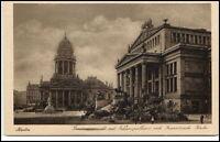 BERLIN um 1925 Gendarmenmarkt Schauspielhaus und Französische Kirche alte AK