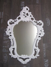 Wall Mirror Antique Baroque Reproduction White 50X76 Deco New 1