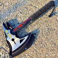"HUNT-DOWN 16"" ZOMBIE BLACK TACTICAL AXE Tomahawk Hatchet Hunting Survival"