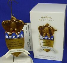Hallmark Ornament On Wings of Courage 2008 Eagle Personalize w/ Military Branch