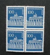 Berlin: 4-er Block/Viererblock, 100 Pfg Brandenburger Tor,MN 290, postfrisch TOP