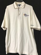 L J Walch Mens Ivory Embroidered Short Sleeve Polo Shirt Size Large         MG2