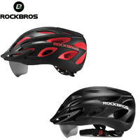 ROCKBROS Bike Helmet with Removable Goggles & Sun Visor Sports Cycling Helmets
