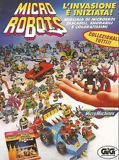 X0326 Micro Robots - MicroMachines - Gig - Pubblicità del 1993 - Vintage advert