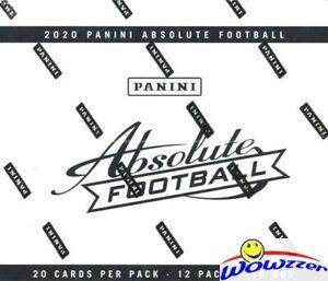 2020 Panini Absolute Football MASSIVE Factory Sealed JUMBO FAT PACK Box-240 Card