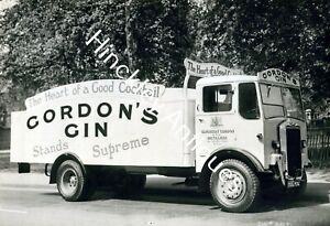 Gordons Gin Mack Albion Delivery Lorry Truck  Manufacturers Photograph 1946