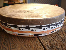 Large Moroccan rough hand made skin douf bendir frame drum