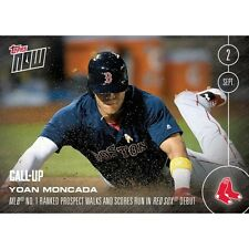 2016 Topps Now #418 Yoan Moncada  Call-Up  Boston Red Sox   Print Run: 2,333