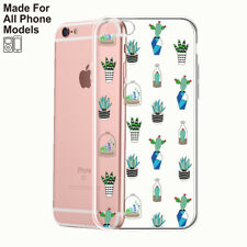 Cactus Clear TPU case iPhone 11 pro max X 8 7 6 Plus Samsung Galaxy S10 plus S9