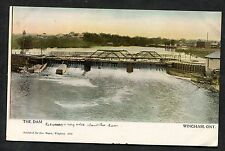 C1910 View of the Dam, Wingham, Ontario, Canada