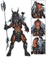 """Hot NECA Predator Clan Leader Alien Hunter 7"""" Action Figure Ultimate Deluxe"""