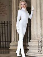 Lederhose Leder Hose Knalleng Weiß Verschluß hinten Maßanfertigung