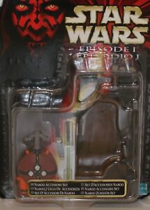Star Wars EPISODE 1 Naboo Accessory Set (Hasbro 1999) MOC 26207 26208.186