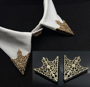 One Pair Shirt Collar Pin Clip Brooch Necktie Pin Men Women