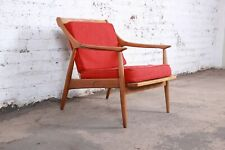 Danish Modern Sculpted Walnut Lounge Chair, 1960s