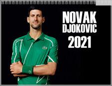 Novak Djokovic Year 2021 Wall Calendar