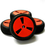 180005 1/8 Scale Off Road Buggy RC Wheels and Tyres Disc Red x 4