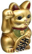 Japanese Beckoning cat MANEKI NEKO right GOLD  Piggy bank made in Japan