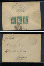 Portugal   293  (3)  on cover  to  US   1928       KL0402
