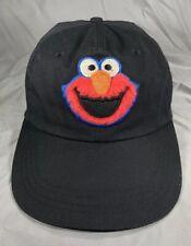 Sesame Street ELMO cap Hat Adult OSFA Black Poly Cotton Look