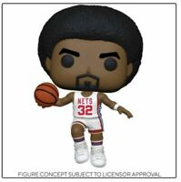 FUNKO POP NBA LEGENDS Nets Julius Erving PREORDER mint w protector