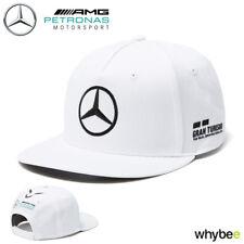 2018 Lewis Hamilton Official Flatbrim Cap WHITE Adult One Size Mercedes-AMG F1