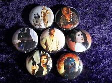 """1"""" pinback button set inspired  by """"Star Wars"""" A New Hope Set 1 of 3"""