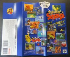 1999 Nintendo Store Promo Display Brochure N64 Pokemon Snap Game Pamphlet Flyer