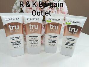 4 ~ COVERGIRL ~ Tru Blend Face Primer ~ Dry Skin 1 Oz Each New