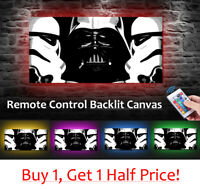 STAR WARS - LED BACKLIT Canvas : USB Powered Movie Wall Art  *DARTH VADER*