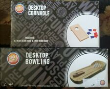 Mini Tabletop Cornhole Toss Game Desktop Bowling new