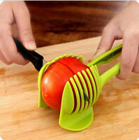 Kitchen Fruit Tomato Clip Holder Slicer Vegetable Lemon Potato Cutter Tool Use