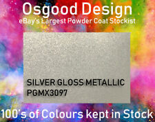 SILVER GLOSS METALLIC 1kg Powder Coat EPGX3097 Refurbishment Alloy Wheel