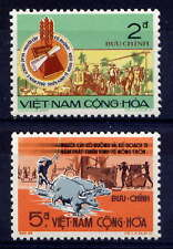 VIETNAM, SOUTH Sc#448-9 1973 Agrarian Reform Law 3rd Anniversary MNH