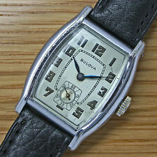 1930 Vintage BULOVA 'LAFAYETTE' Gents Swiss RGP Gold Art Deco Watch – SERVICED