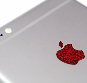 Red Glitter Color Changer Overlay for Apple iPhone 8 and 8 Plus Logo Decal