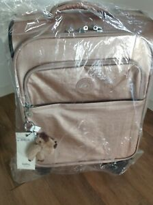 Kipling ROSE GOLD METALLIC Parker Small Wheeled Carry-On Luggage, NEW