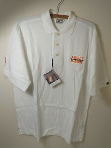 Cutter and Buck Golf Shirt Mens White Cotton Absolut Mandrin Country of Sweden