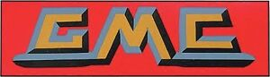 1953-57 GMC Truck Valve Cover Decal  QUALITY LICENSED DECAL.