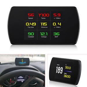 TFT LCD  HUD Head-up Display Car OBD2 Smart Digital Speedometer Engine RPM